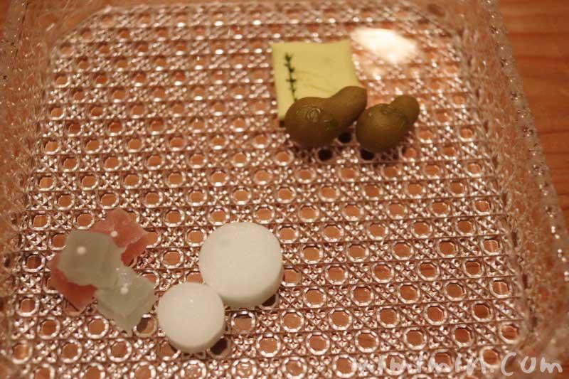 干菓子|くろいわ ディナー|恵比寿の懐石料理の画像