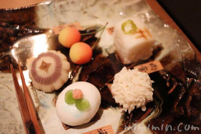御菓子|くろいわ |恵比寿の懐石料理の写真