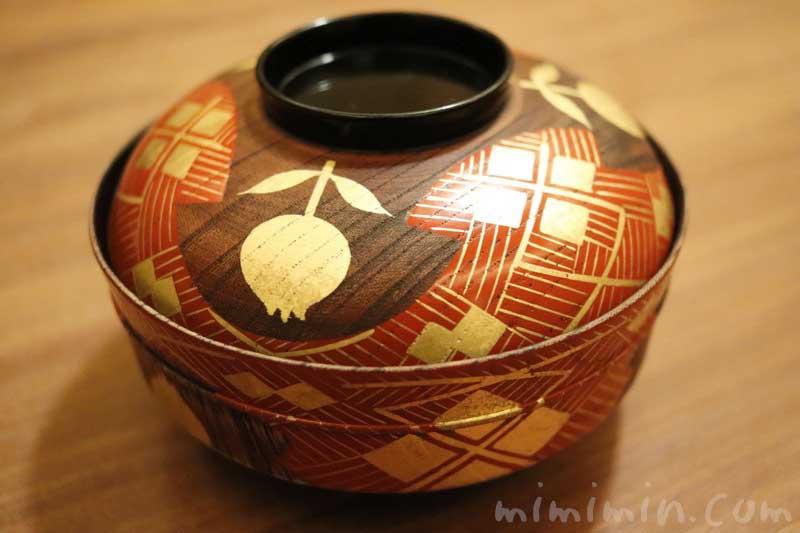 椀物|下鴨茶寮 東のはなれ(東京店)でランチ|京料理の画像