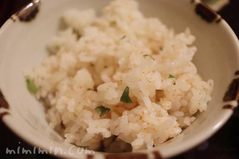 炊き込みご飯|下鴨茶寮 東のはなれ(東京店)でランチ|京料理・銀座の画像
