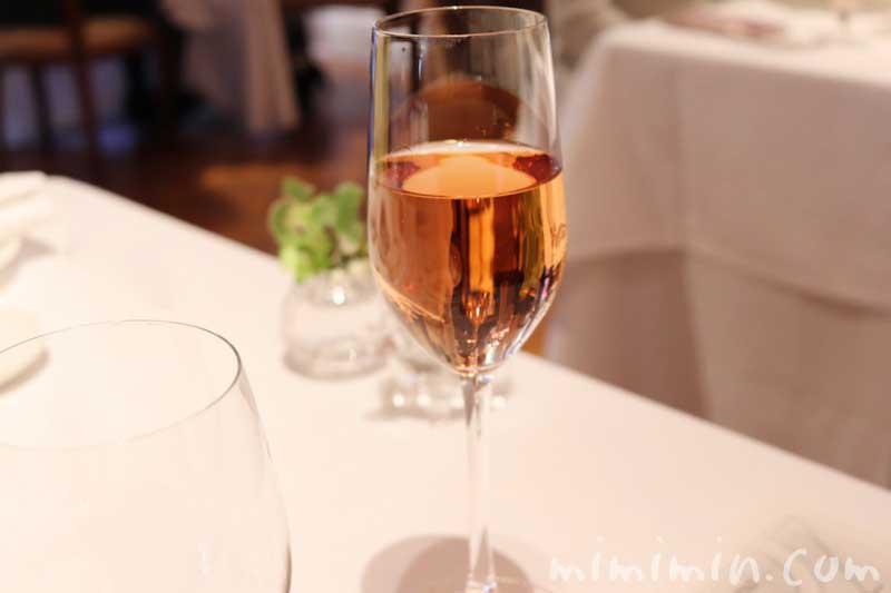 ワイン、ロゼ スパークリング|リストランテASO(代官山)ランチの画像