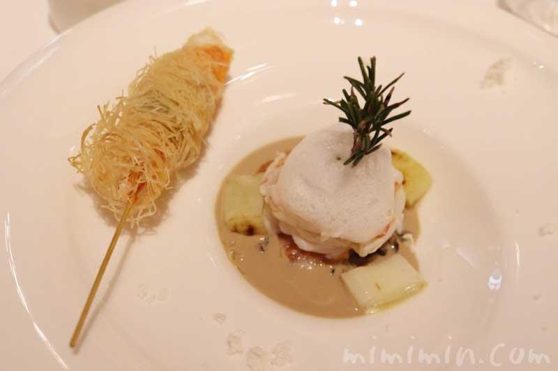 海老とサーモンのマリネとワイルドライスのサラダ マッシュルームソース|リストランテASO(代官山)ランチ