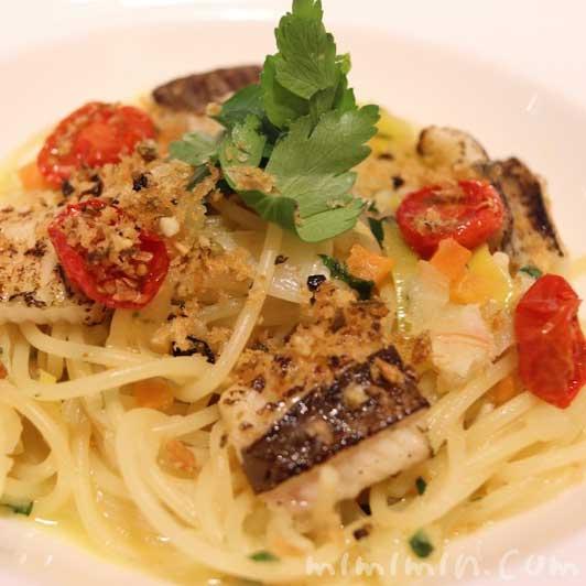焼き穴子のスパゲッティ サフラン風味|リストランテASO(代官山)ランチの写真