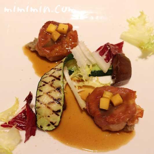豚フィレ肉のサルティンボッカ 牛蒡のペーストと共に|リストランテASO(代官山)の写真
