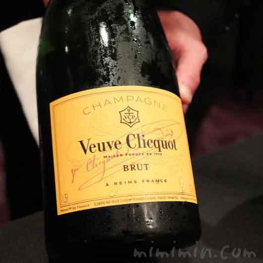 シャンパン|ヴーヴ・クリコ|ラ ターブル ドゥ ジョエル・ロブションの写真