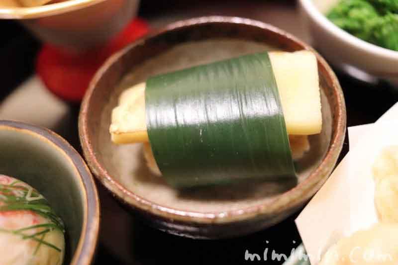 炙り筍笹巻き飯|温故知新(恵比寿・和食・懐石)の画像
