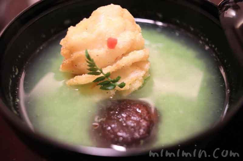 お椀 芽花椰菜摺り流し|温故知新(恵比寿・懐石)ディナーの写真
