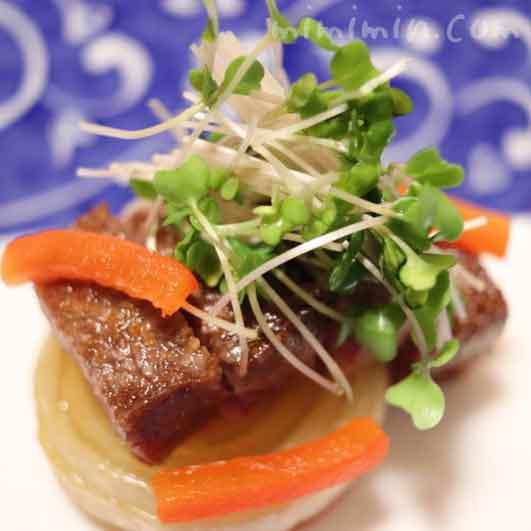 炙り阿知須牛|温故知新(恵比寿・和食・懐石)ディナーの写真