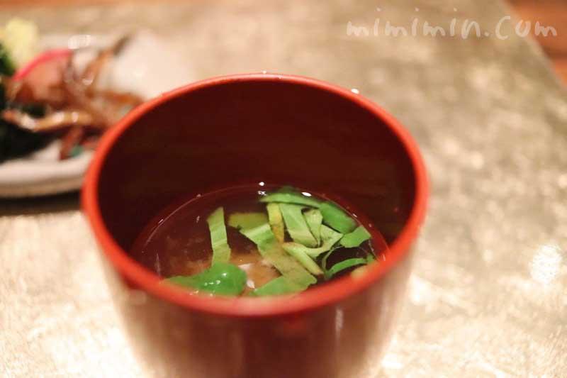 味噌汁|白金台こばやし ディナーの画像