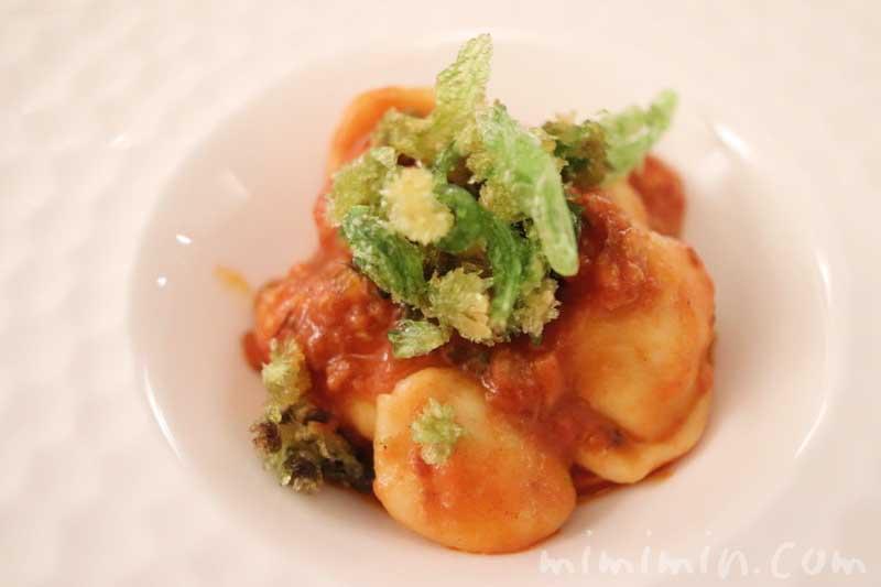 オレキエッテ 貝類のラグー フキノトウ|リストランテセンソ(白金台)でディナーの写真