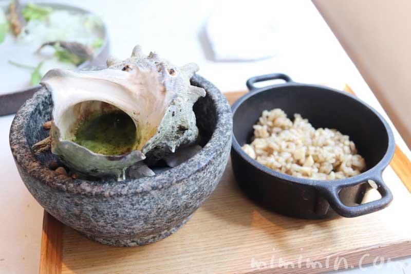栄螺の肝ソース|クラフタル|中目黒のモダンフレンチの写真