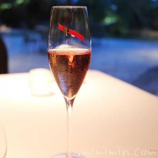 ロゼのシャンパン|Q.E.D.クラブ・ディナー(中目黒のフレンチ)の写真