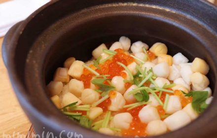 子柱の土鍋御飯の写真