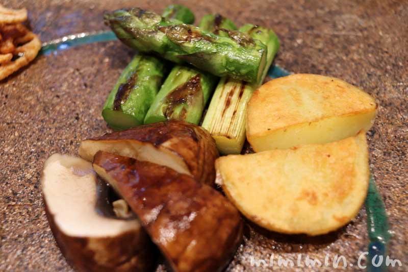 野菜|Q.E.D.クラブの鉄板焼きランチの画像