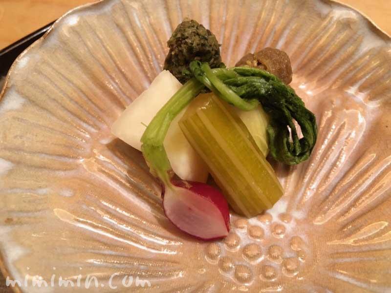 漬物|恵比寿くろいわのディナー|和食・京料理の画像