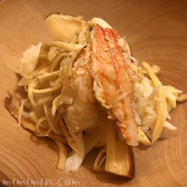 松茸と毛蟹のご飯|恵比寿くろいわのディナー|和食・京料理