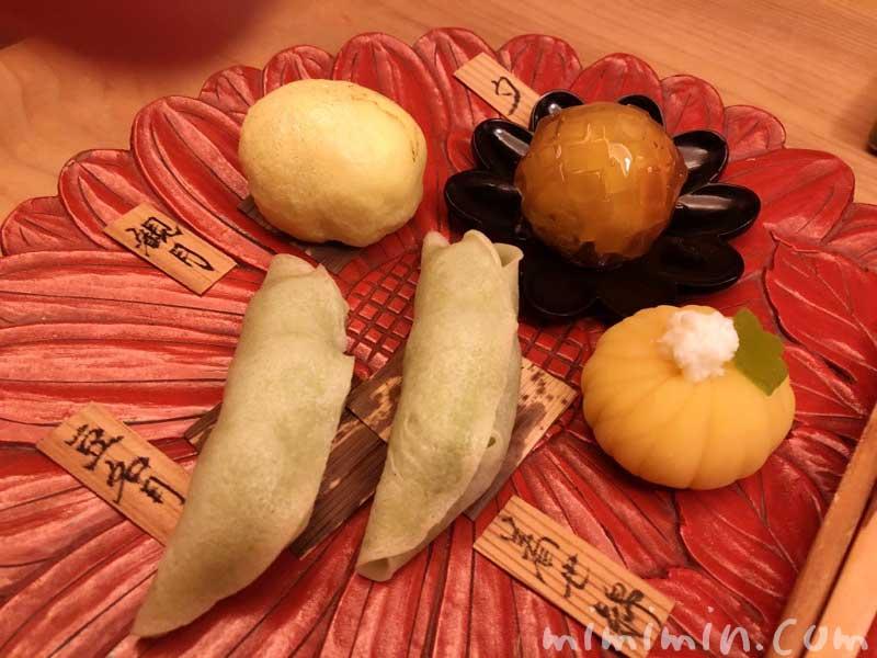 デザートのお菓子|恵比寿くろいわ ディナー|和食・京料理の写真