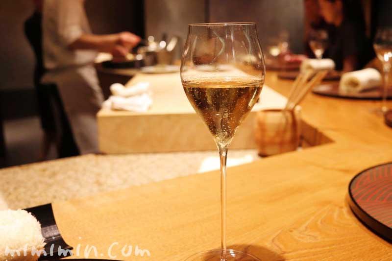 シャンパン|六本木 kappou ukai (カッポウ ウカイ)のディナーの画像
