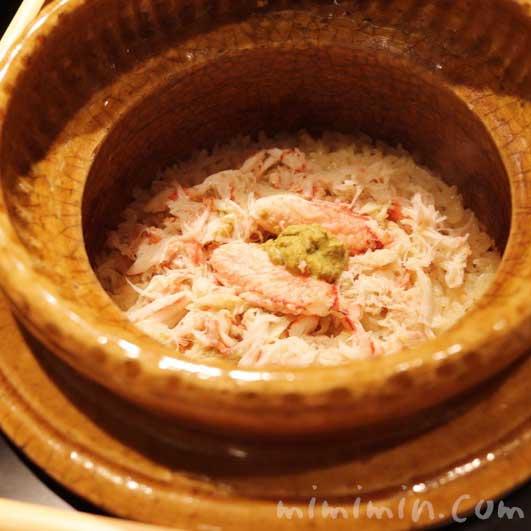 季節の釜炊き御飯 毛ガニ|六本木 kappou ukai の画像