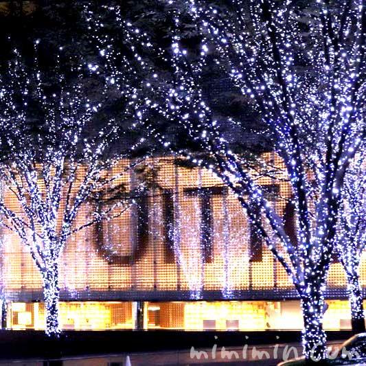 けやき坂のクリスマスイルミネーション
