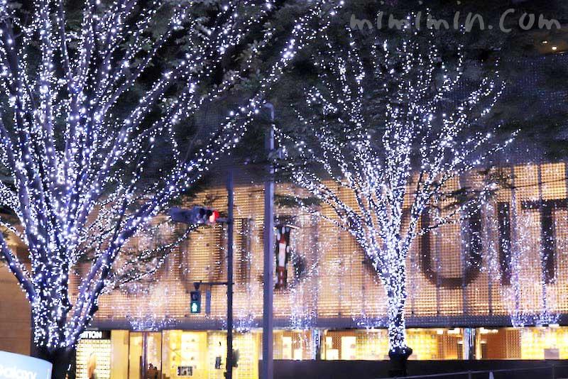 六本木けやき坂のクリスマスイルミネーションの画像