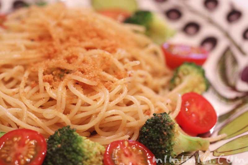 カラスミパウダーでカラスミパスタの簡単レシピの写真
