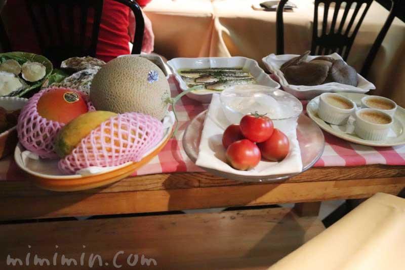 前菜のワゴン|キャンティ 西麻布店でディナーの画像