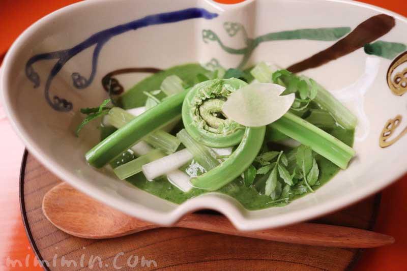 酢物 山菜木の芽豆腐(蕗 こごみ 山独活 木の芽味噌)赤坂 菊乃井の画像