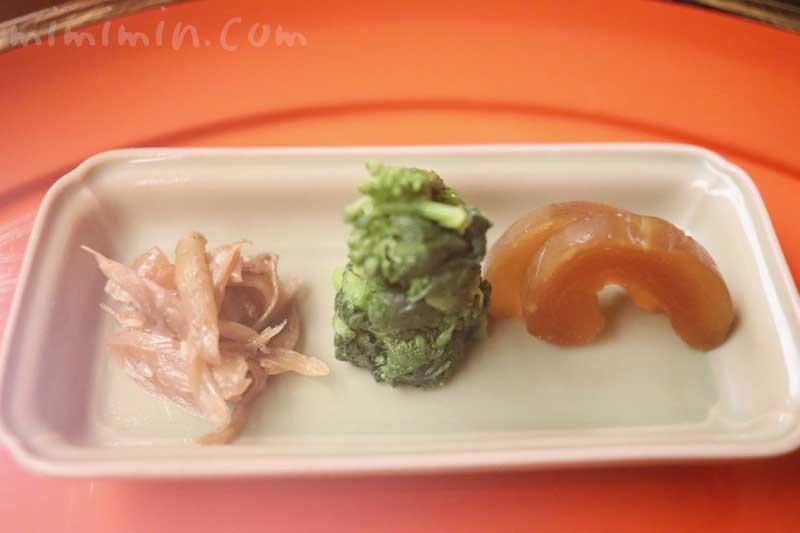 漬物|赤坂 菊乃井のディナー4月の写真