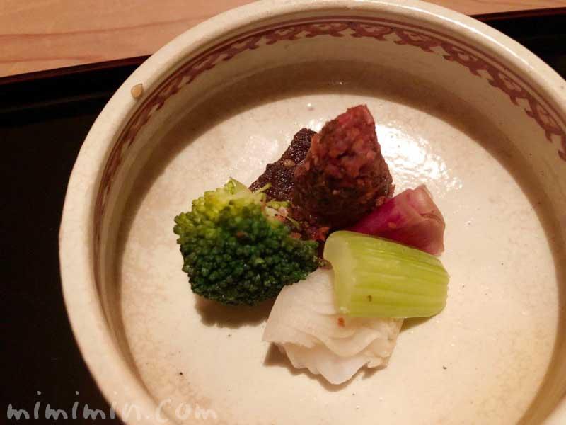 漬物|恵比寿くろいわの懐石ディナー|和食・日本料理の写真