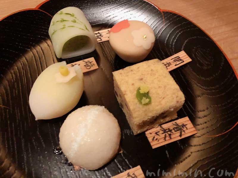 お饅頭|恵比寿くろいわの懐石ディナー|和食・日本料理の写真