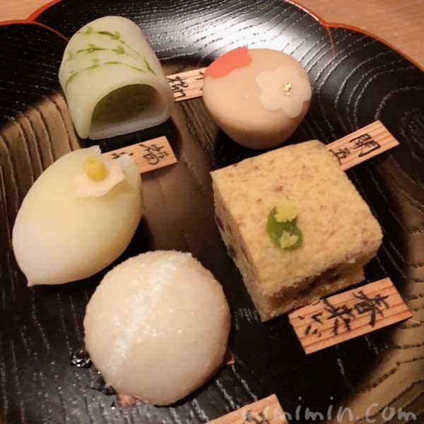 お饅頭|恵比寿くろいわの懐石ディナー|和食の画像