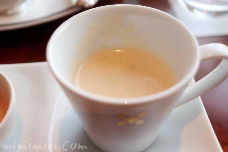 本日のスープ|帝国ホテル東京のストロベリーアフタヌーンティー|インペリアルラウンジ アクアの写真