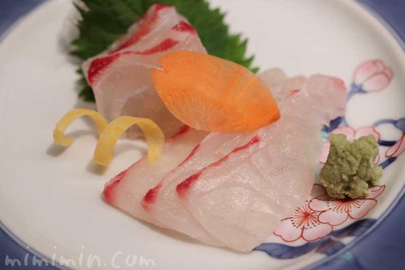 日本料理 舞 ランチ・季節のおたより御膳 の鯛のおつくり|ウエスティンホテル東京(恵比寿)の写真