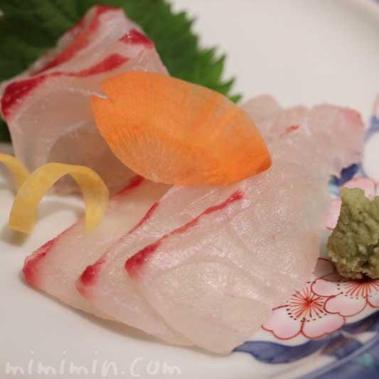 日本料理 舞 ランチ・季節のおたより御膳 の鯛のおつくり|ウエスティンホテル東京の画像
