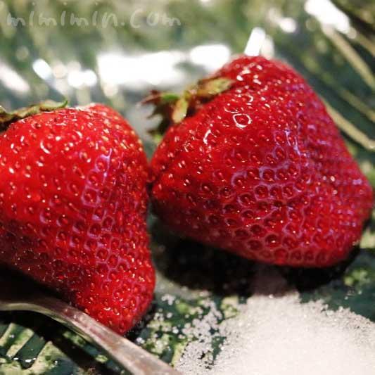 苺 デザート| 山の茶屋のランチ(WEB限定コース)|赤坂の鰻会席の写真