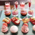コンラッド東京の「いちご&桜バニティピンク・アフタヌーンティー」の画像