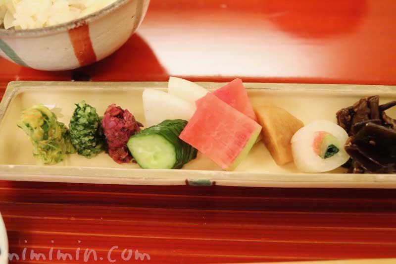 漬物|京しずくの個室でディナー|京料理(恵比寿)の画像
