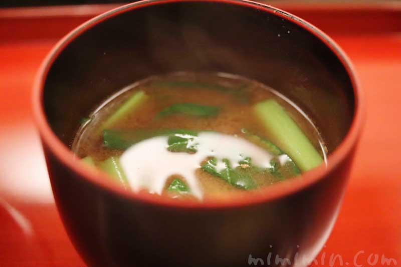 味噌汁|京しずく ディナーの写真