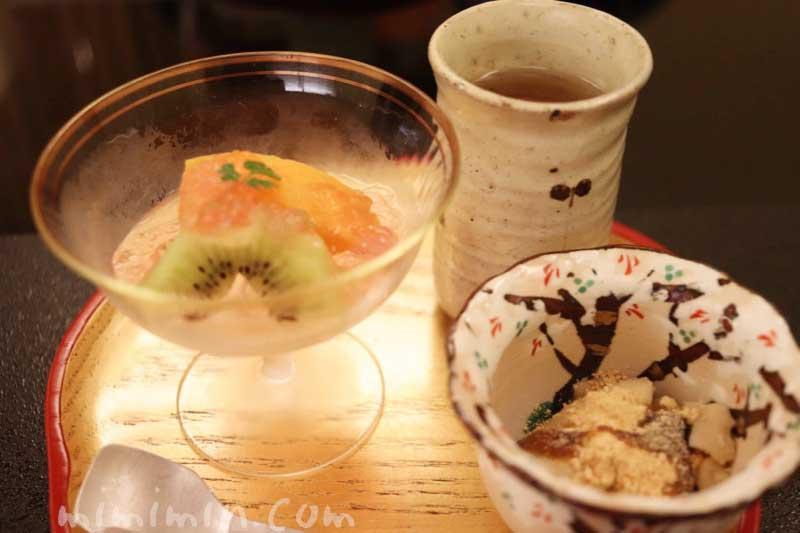デザート|京しずくの個室でディナーの写真