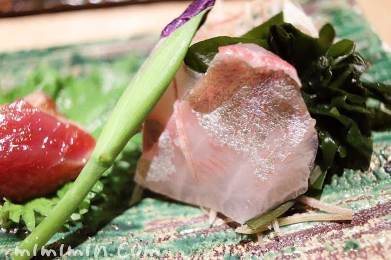 鯛のおつくりl鮨屋 小野(恵比寿)の画像