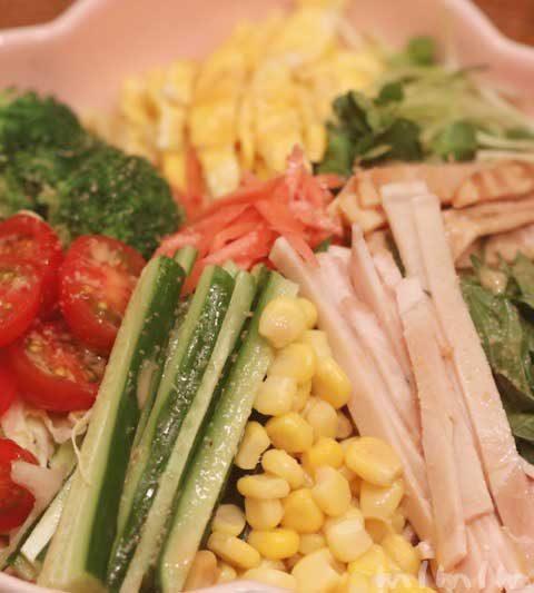 冷やし中華のレシピ|ありあわせの材料で簡単に作る具沢山の冷やし中華