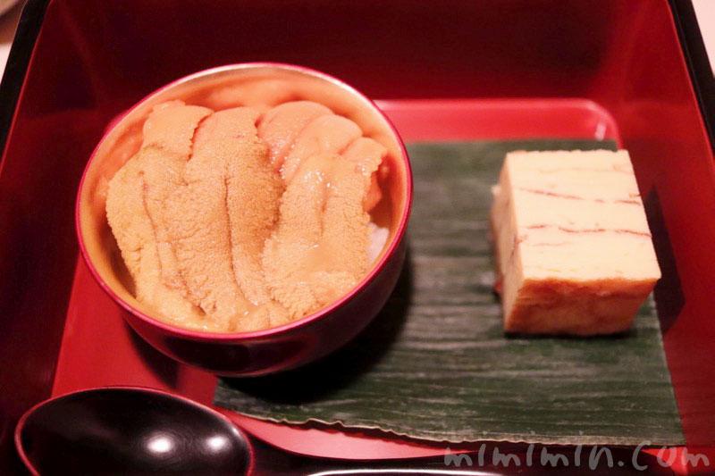 ウニと卵焼き|鮨 伊佐野の写真
