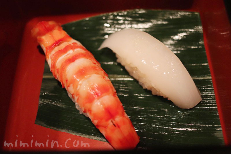 海老と烏賊の握り寿司|鮨 伊佐野の写真