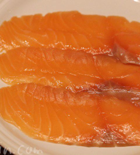 魚庵のサーモンの燻製・たらこ昆布の佃煮・しじみ生姜煮