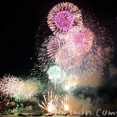 横浜みなとみらいスマートフェスティバル 花火の画像
