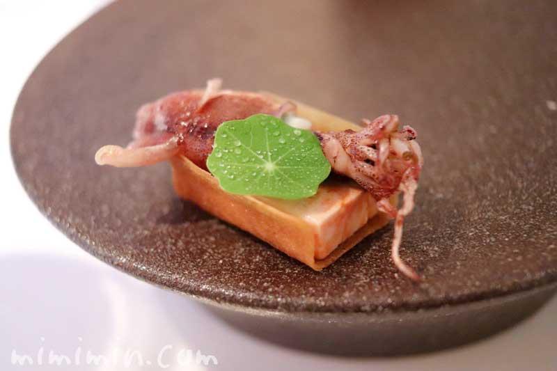 なめらかなあん肝とホタルイカ|アムールでディナーの写真