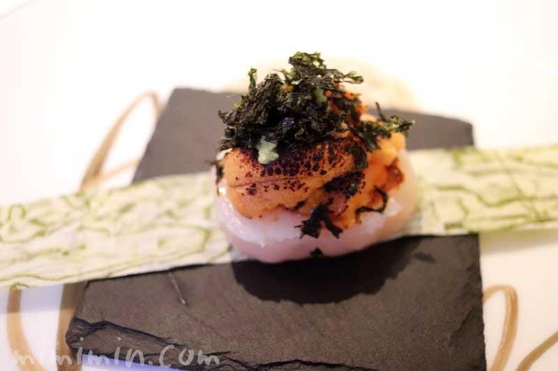 帆立貝と雲丹の炙り|アムールの写真