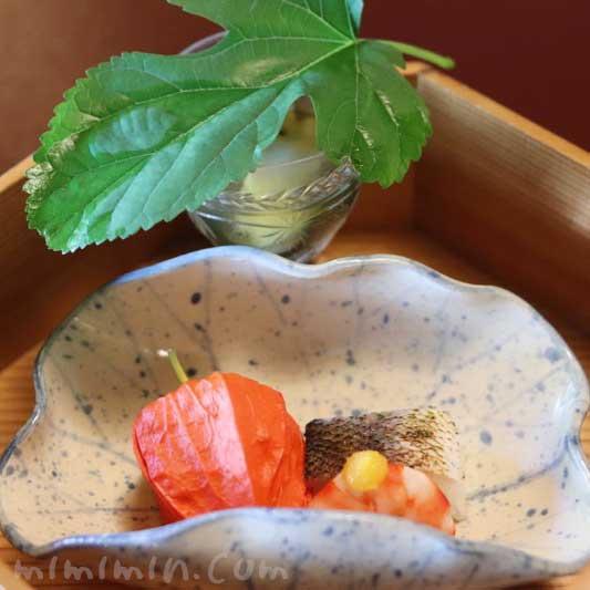 ほおずき山桃 海老からすみ|東京 芝 とうふ屋うかいのランチの画像