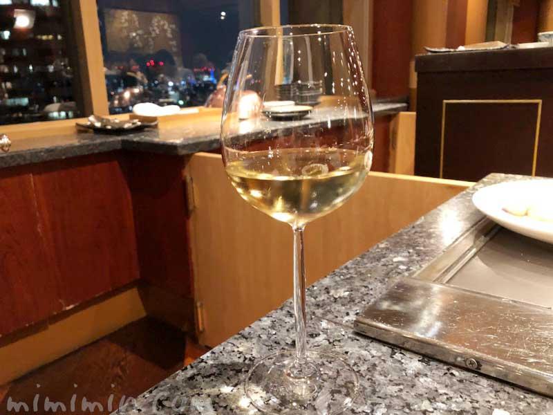 白ワイン|鉄板焼き 恵比寿のディナーの写真